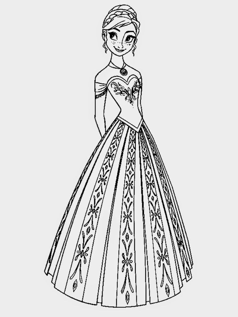 Frozen printable coloring book - Frozen Anna Face Coloring Pages