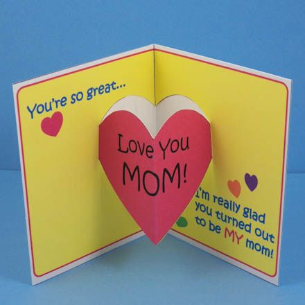 Mother's Day/ Valentine's Day Pop-up Card with Template