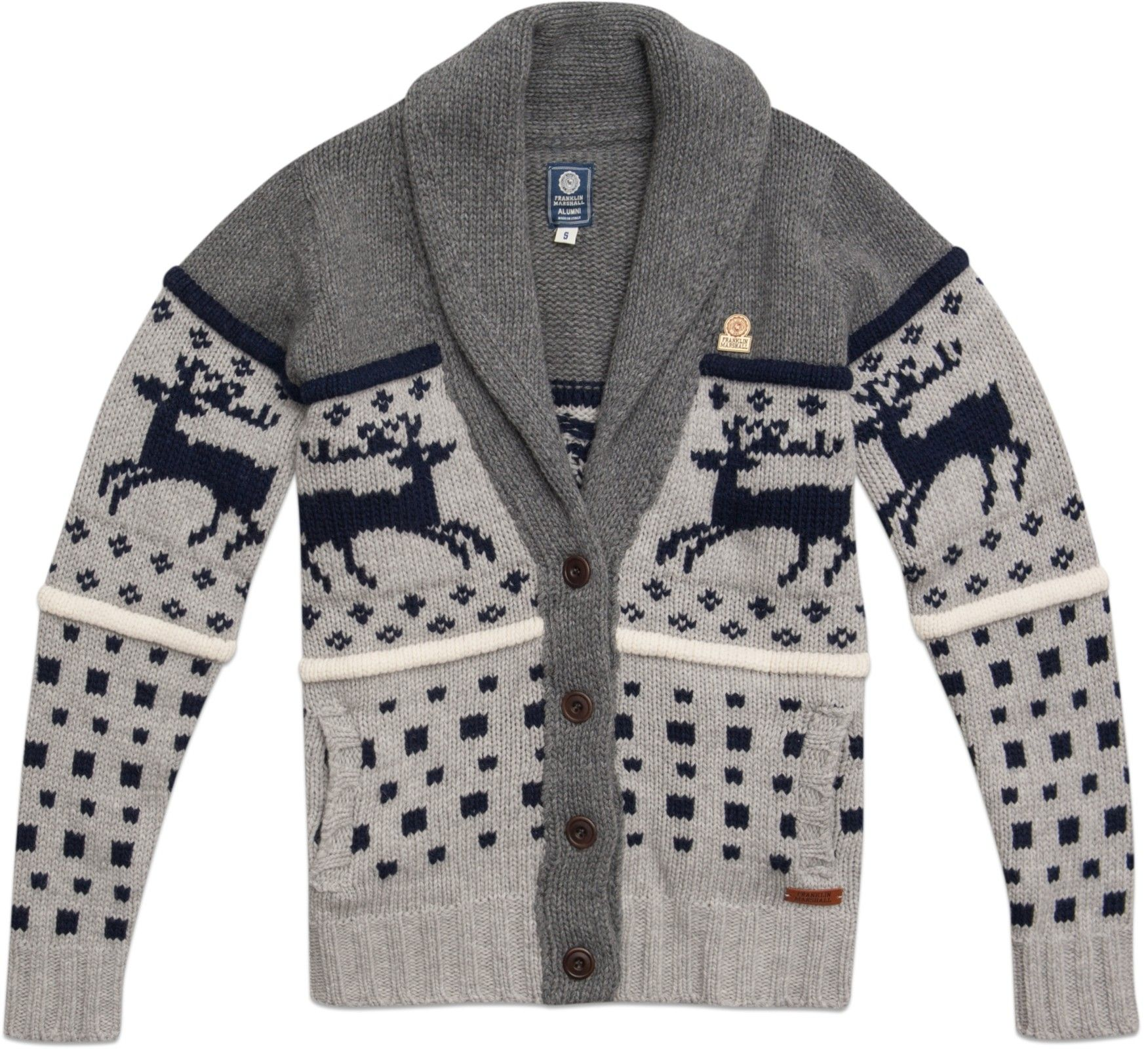 All you need for Christmas is a #cardigan with reindeer