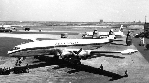 A leased LH Lockheed Constellation (1049H). Photo circa