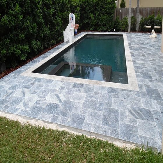 Ocean Blue Marble Pavers For Pool Decks Patio Decks Paths And More Available In Sefastone Miami Store Perfec Outdoor Pavers Pool Patio Swimming Pool Designs