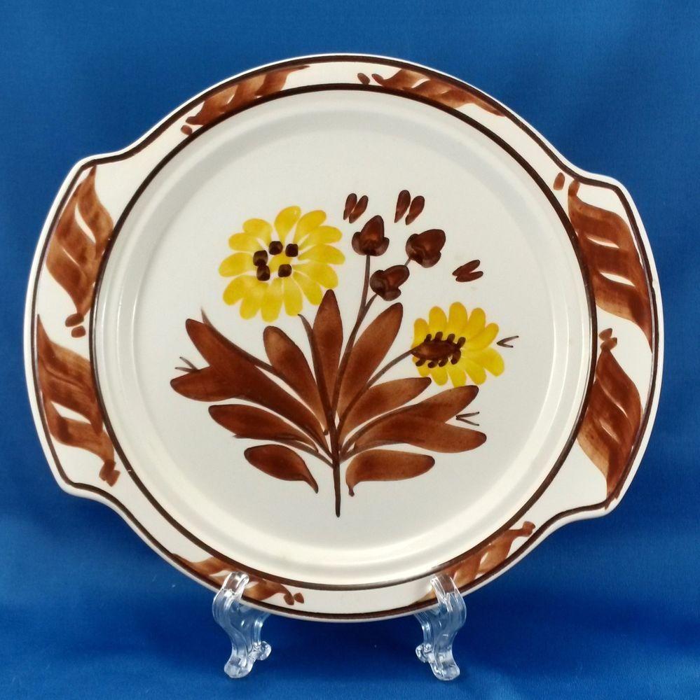 Vernon Kilns Gale Turnbull Casa California T632 Tab Handle Muffin Plate 1937-38 #VernonKilns