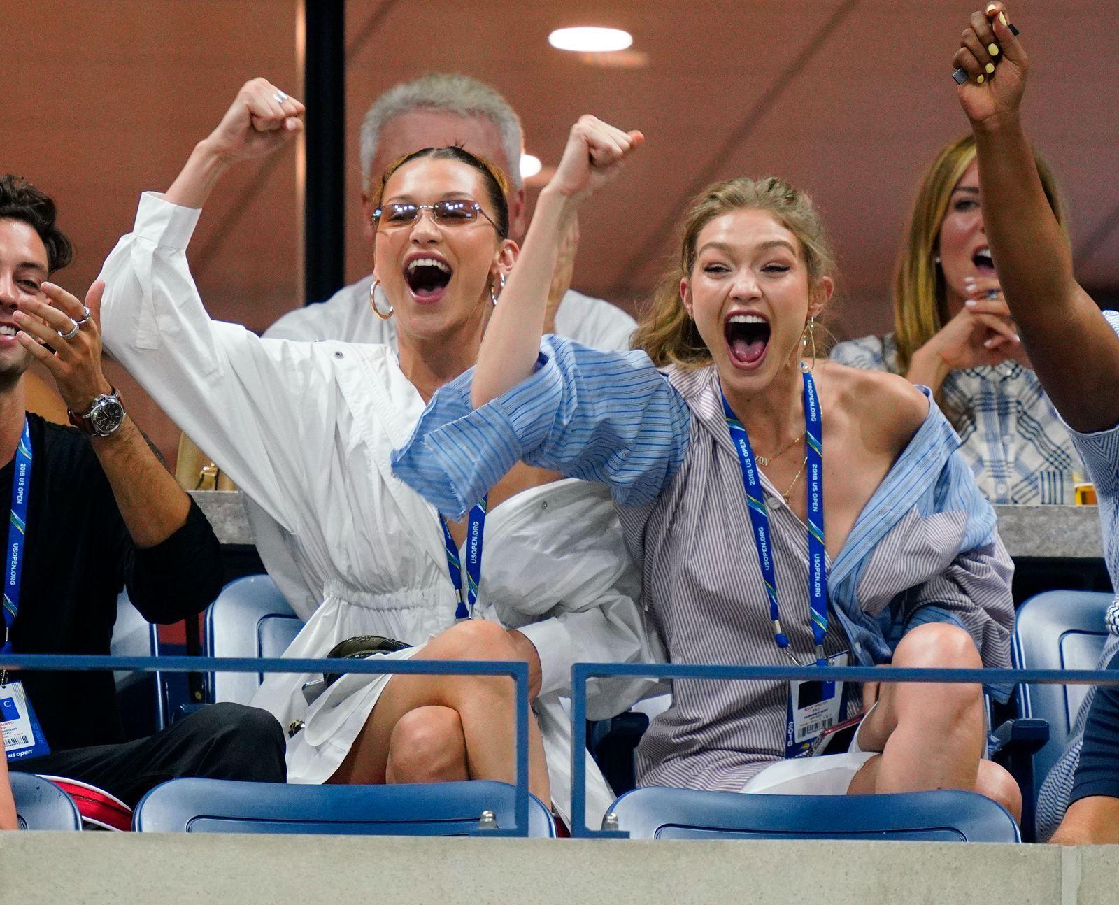 Personne ne s'est plus amusé à l'US Open que Gigi et Bella Hadid   – Hadid Sisters