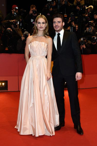 Lily James Photos Photos Cinderella Premiere 65th Berlinale International Film Festival In 2020 Lily James Stunning Dresses Richard Madden