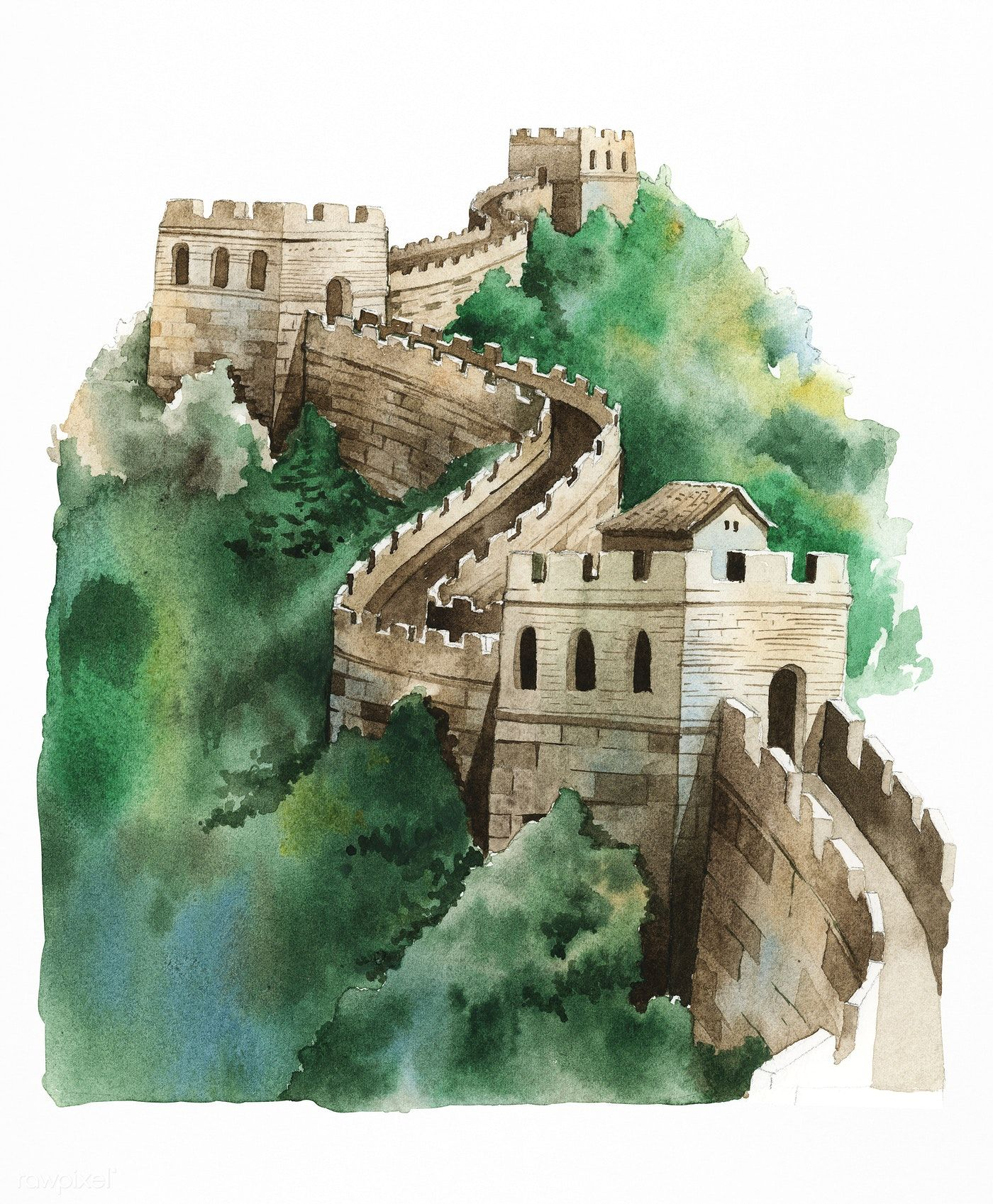 download premium illustration of the great wall of china on the great wall of china id=87377