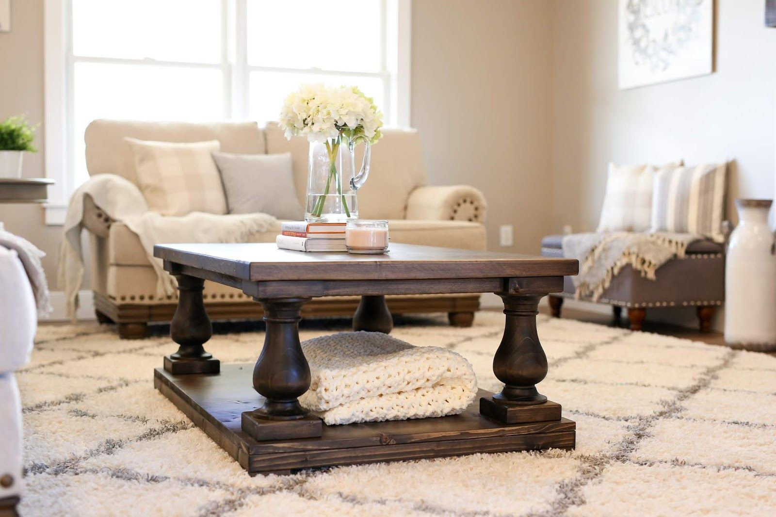 Balustrade coffee table diy plans with images coffee