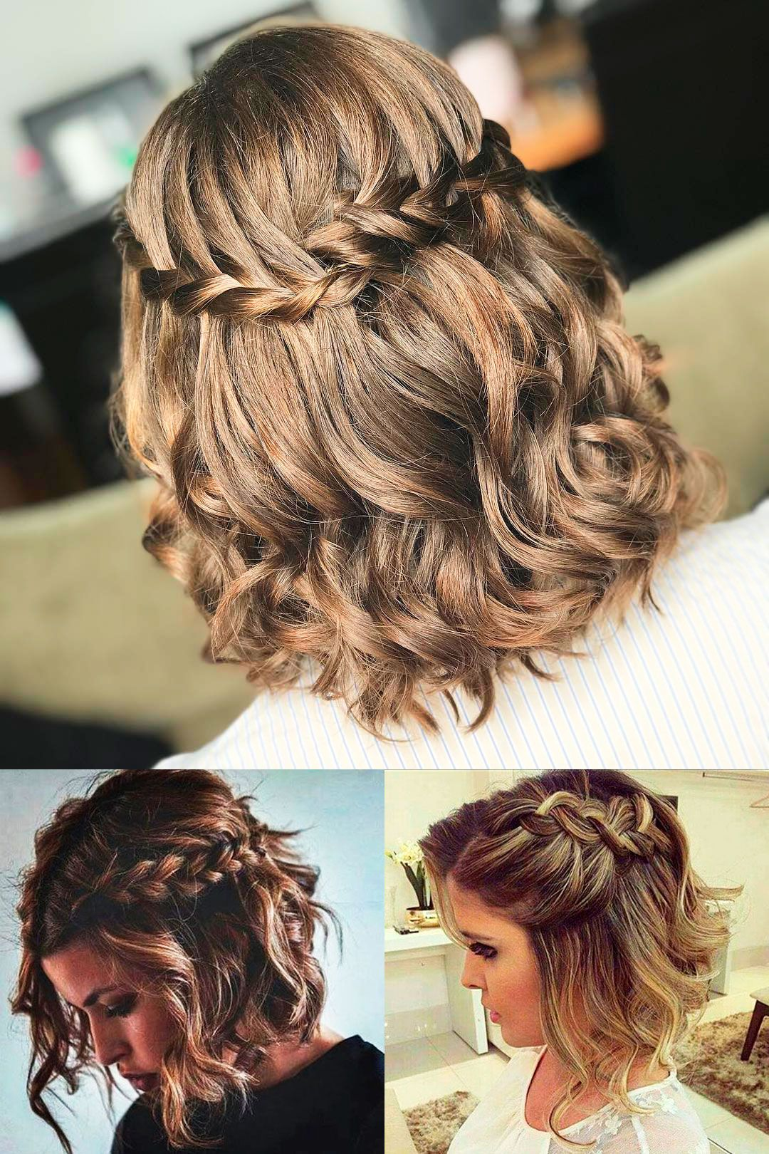 17 Most Attractive Short Curly Hairstyles For Women Loose Curls Short Hair How To Curl Short Hair Curled Hair With Braid