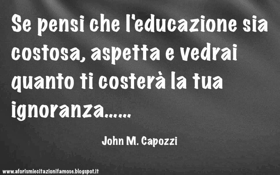 L'educazione o c'è l'hai o non c'è l'hai....