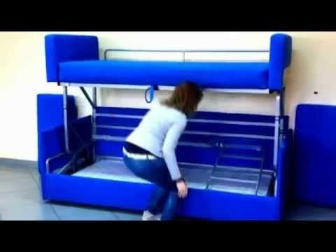 Диван трансформер в двухъярусную кровать Cabrio duo от MebelevaGroup ...