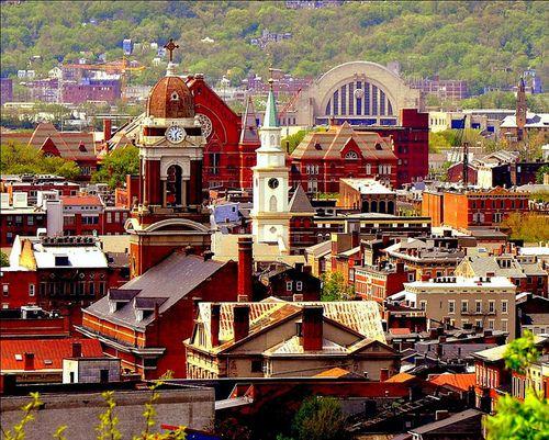 Over The Rhine Historic District In Cincinnati Over The