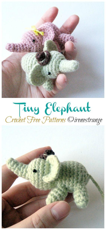 Amigurumi Tiny Elephant Crochet Free Patterns - Crochet & Knitting