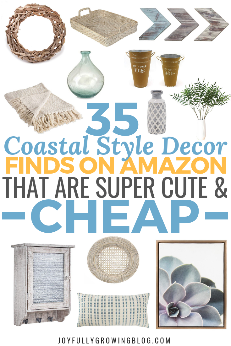35 Coastal Style Decor Finds On Amazon for Under $50 #coastallivingrooms