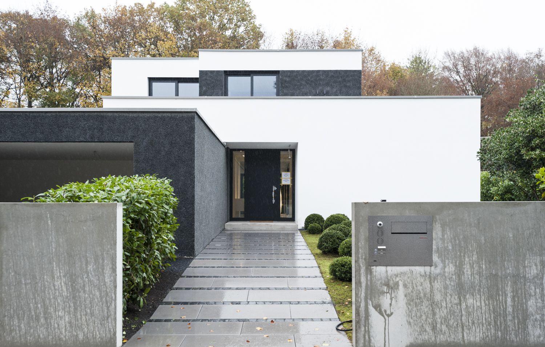einfamilienhaus gr nwald 2016 eingang pinterest