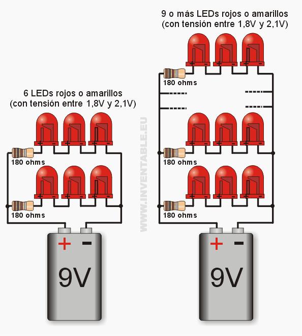 Energías Alternativas Led En Serie O Paralelo Electronics Projects Proyectos Electronicos Electricidad Y Electronica