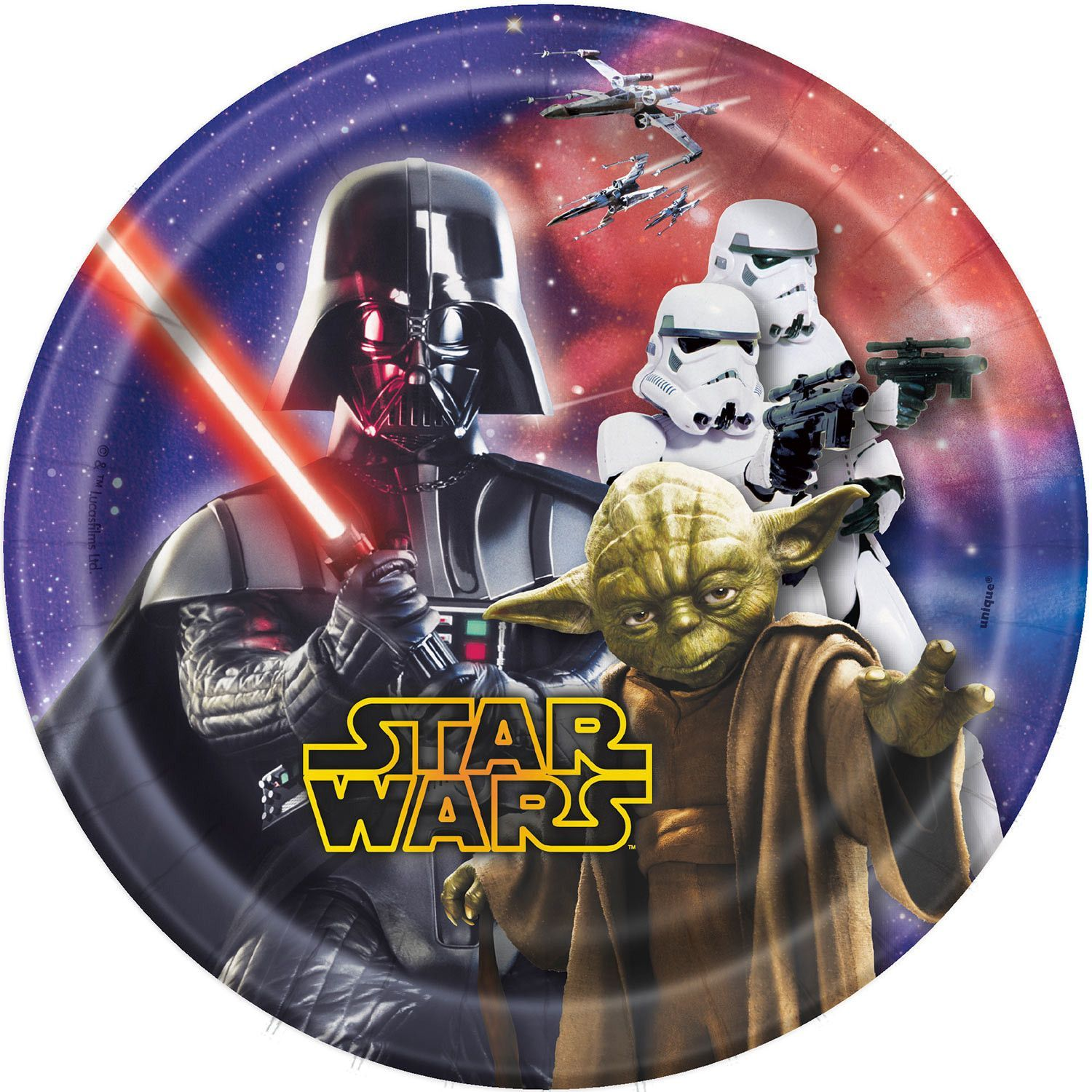 Star Wars 7 Inch Paper Plates [8 Per Pack]  sc 1 st  Pinterest & Star Wars 7 Inch Paper Plates [8 Per Pack] | Themed birthday parties ...