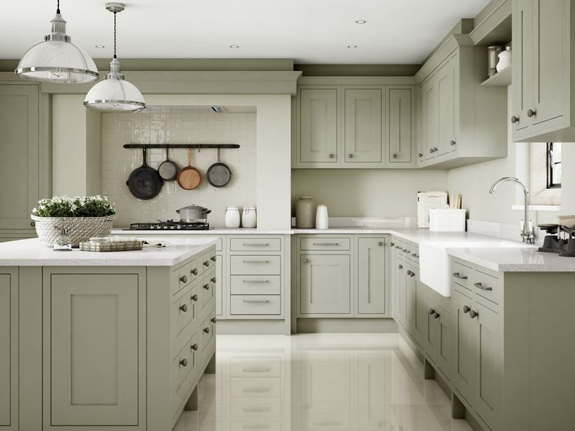 Heritage Sage Wickes Co Uk Open Plan Kitchen Living Room New Kitchen Inspiration Sage Kitchen