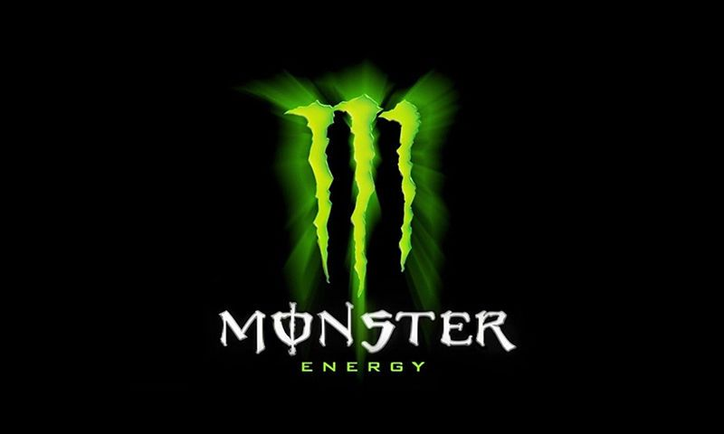 Monster Energy Drink Logo Sign Plate Poster Flag Bar Sport Fan - Artist unbrands famous corporate logos to give them hilarious new meanings
