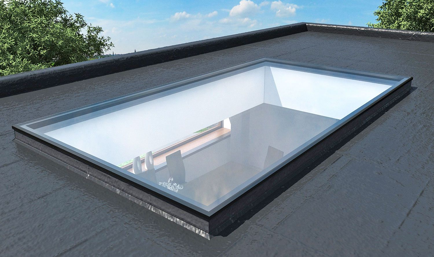 Find This Pin And More On Glass Roof, Roof Lantern By Polisbydgoszcz. Fixed  Flat Rooflights, Skylights ...