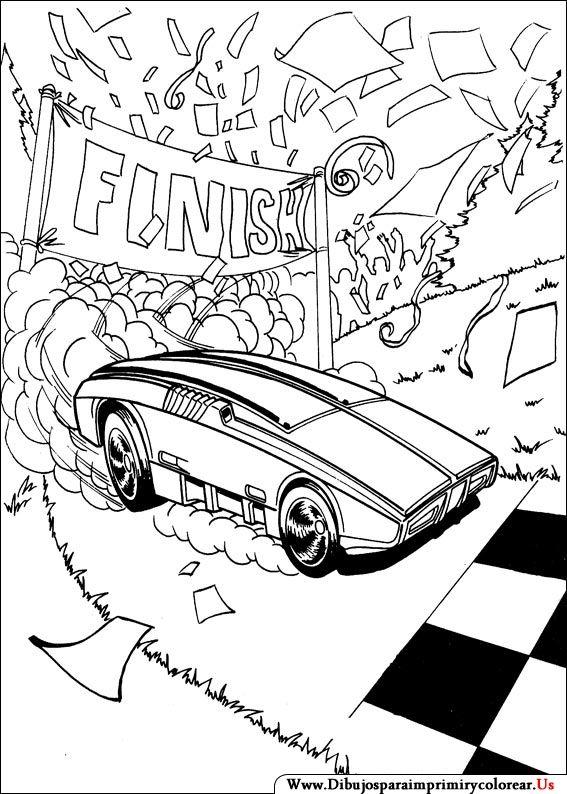 Dibujos De Hot Wheels Para Imprimir Y Colorear Coloring