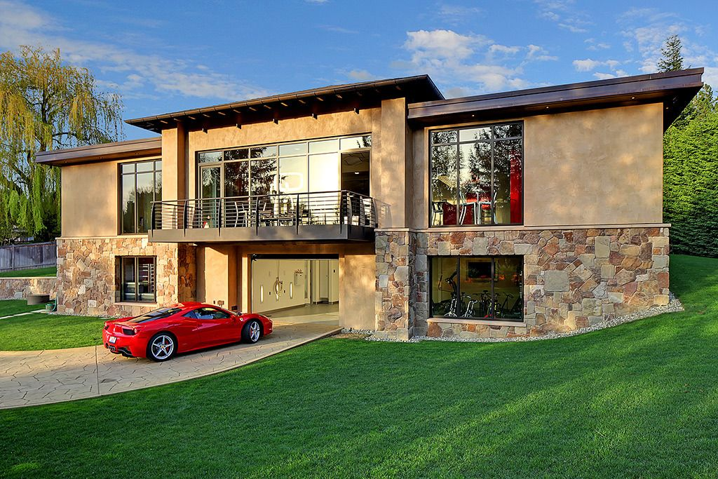 A Look Inside A Car Enthusiast S 4 Million Usd Mansion Garage House Contemporary House Design Contemporary House