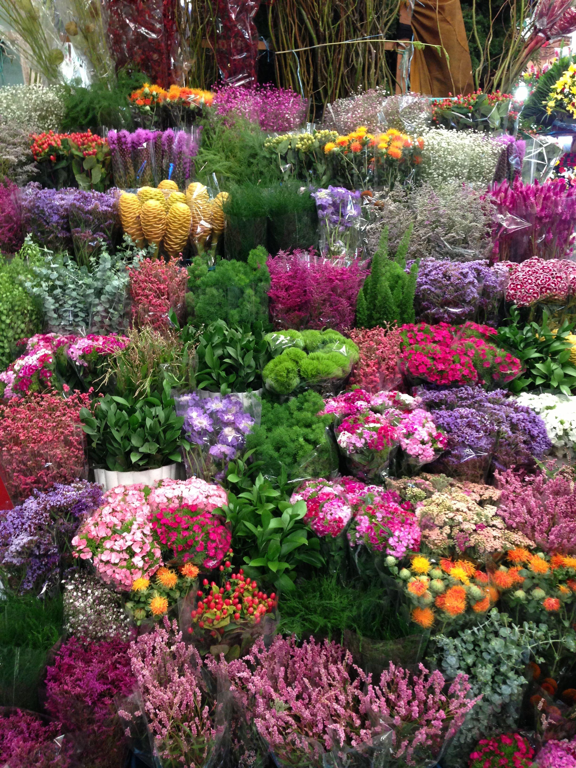 Mercado de Jamaica Mexico City Jardín de flores, Puestos