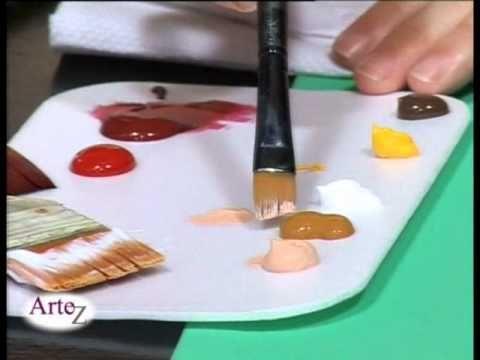 Técnica De Pintura Con Acrílico Sobre Telamónica Godfroit Sobre