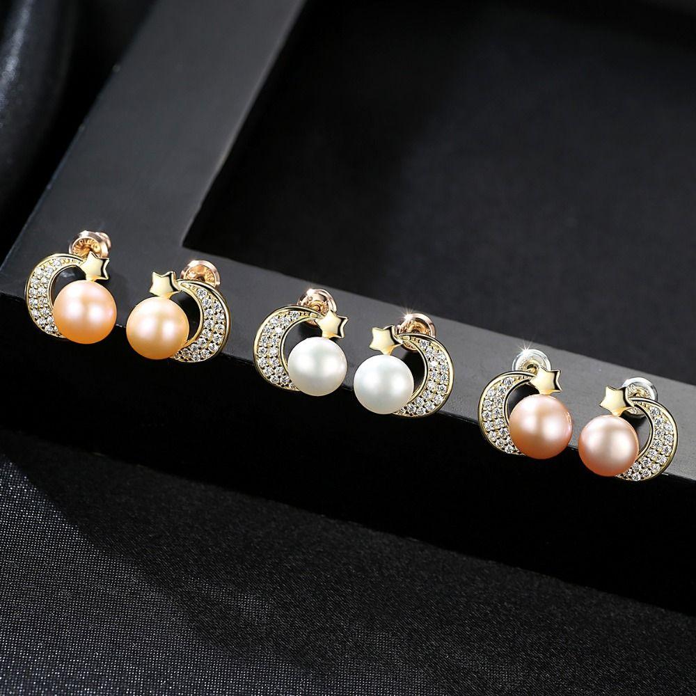 Drop Earrings High Quality 10-11mm Rice Pearl Earrings 925 Sterling Silver Jewelry Earrings Wholesale Gift Box Free