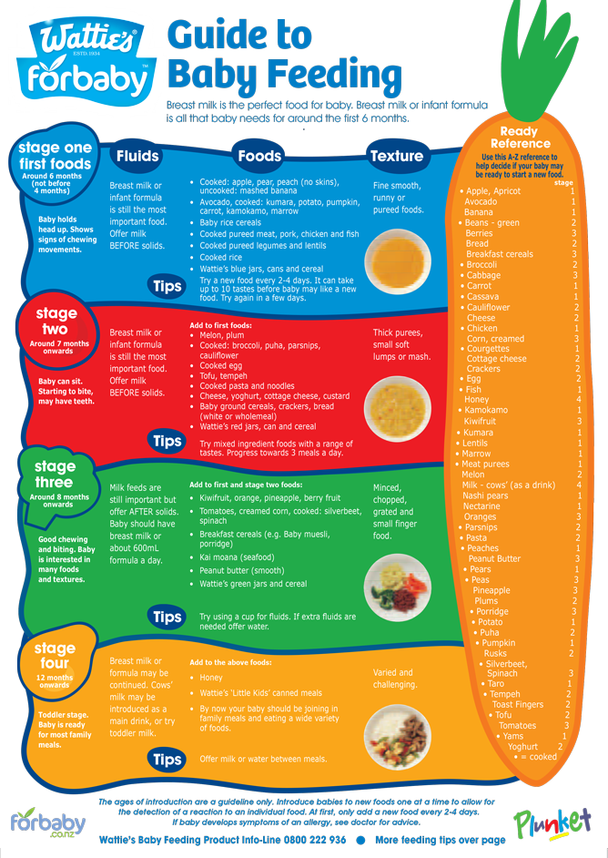 Guide to baby feeding fridge chart | For Baby NZ | Graesun James ...