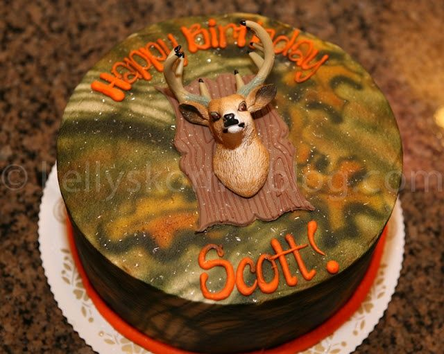 Deer hunting birthday cake birthday for kids Cakes Pinterest