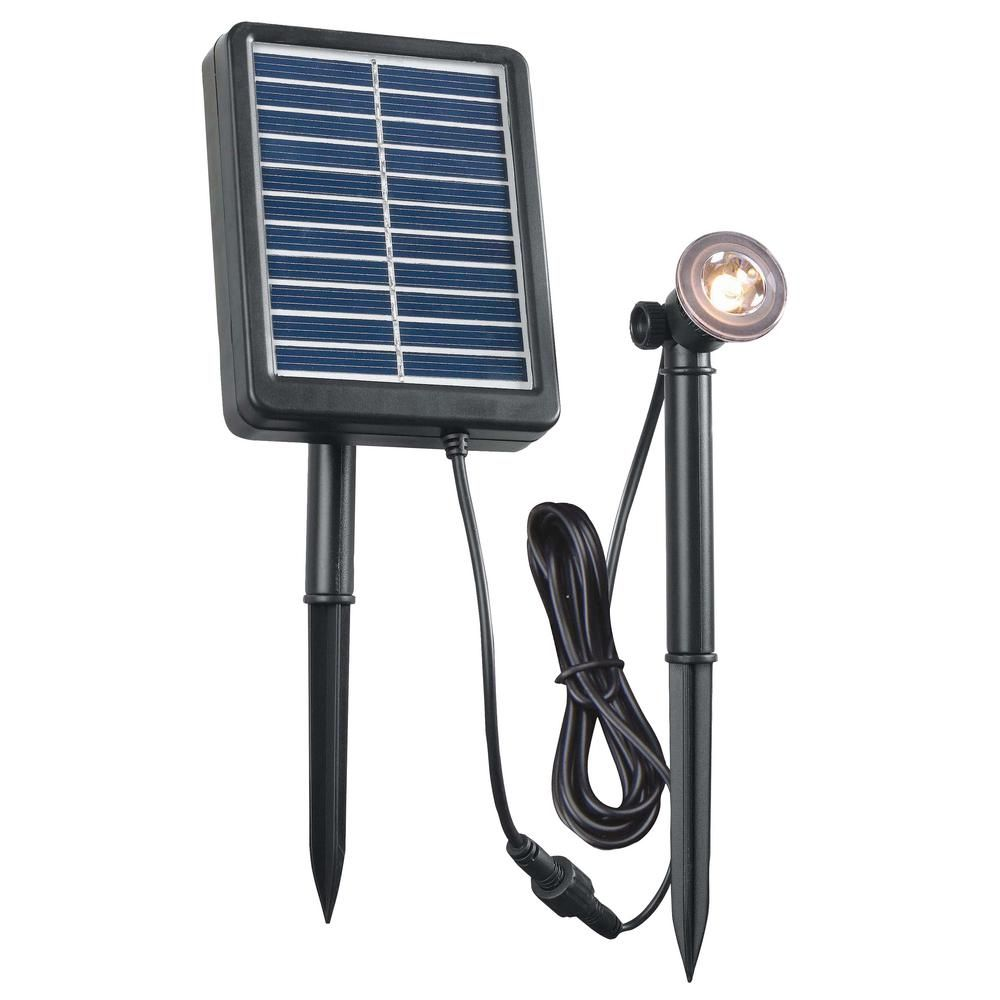 Kenroy Home Solar 1 Watt Black Outdoor Integrated Led Landscape Spot Light 60611 In 2020 Solar Spot Lights Solar Lights Solar Led