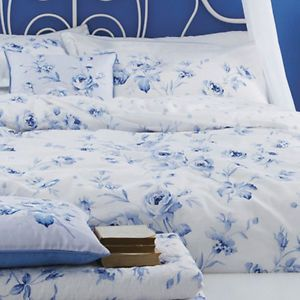 Details About Blue White Floral Or Spot Bedding Bed Linen