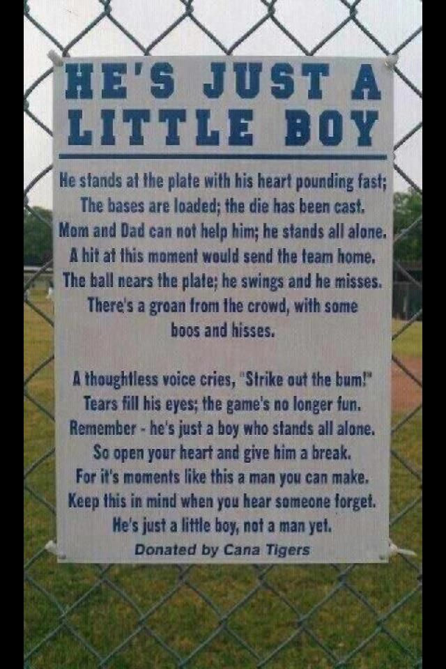 This should be on every field - no matter the sport, age or sex.