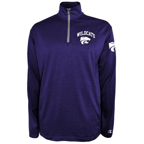 Champion™ Men's Kansas State University Victory 1/4 Zip Pullover (Purple, Size Large) - NCAA Licensed Product, NCAA Men's Fleece/Jackets at Academy...