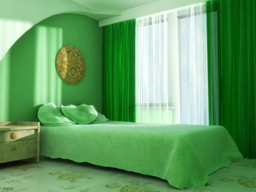 green fashion 2014 | green and white color bedroom curtain 2014