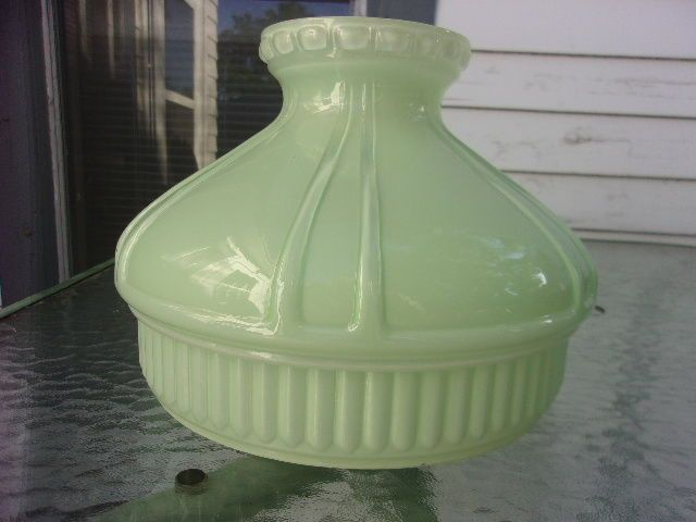 Aladdin Jadeite Green Glass 10 Oil Lamp Shade Oil Lamps Lamp