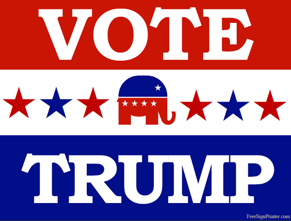 graphic about Printable Trump Sign named Pin upon Vote Indications