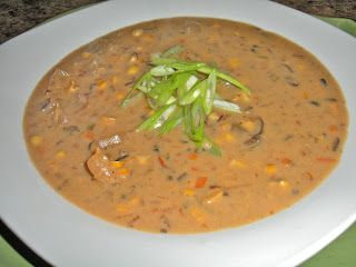Chef JD's Southwestern Cuisine: Roasted Corn, Yuca, Chile Pasilla Crème Soup