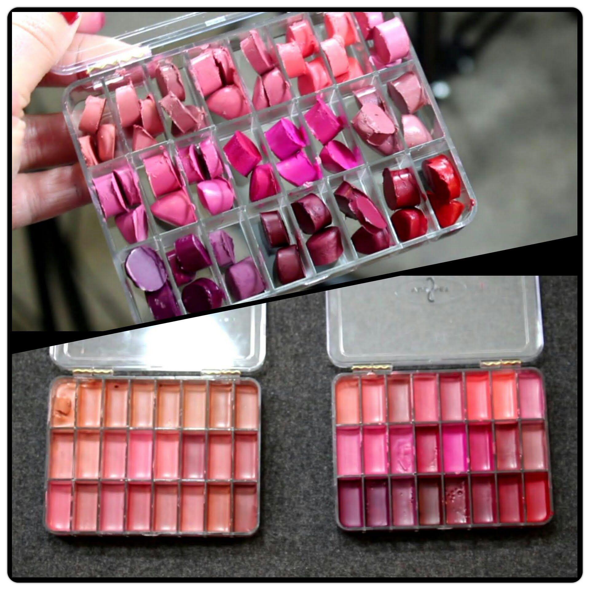 Melting/Depotting lipsticks into a Vueset Palette