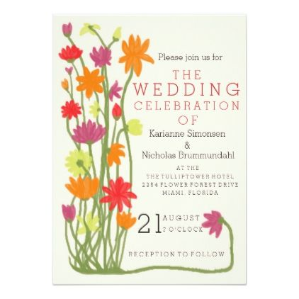 Wedding invitation flower motive wedding invitations cards custom wedding invitation flower motive wedding invitations cards custom invitation card design marriage party stopboris Image collections