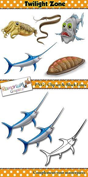 Sea Animals Clip Art Sea Animals Animals Clip Art