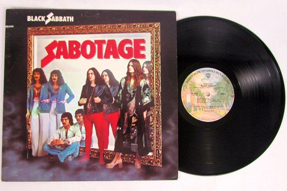 Black Sabbath Sabotage Warner Bros Bs 2822 Lp Vinyl Record Us 1st Press Black Sabbath Vinyl Music Lp Vinyl