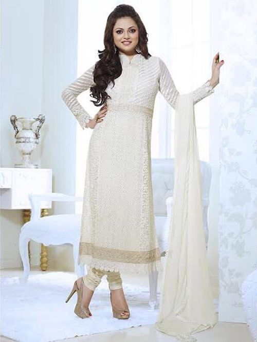 Adda Fashion Off White Pakistani Suit Buy Anarkali Salwar Suits ...