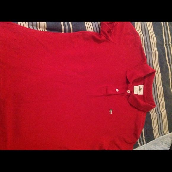 Lacoste polo shirt Woman's Lacoste shirt.  Tag size 42= 10, runs small more like an 8. Lacoste Tops Tees - Short Sleeve