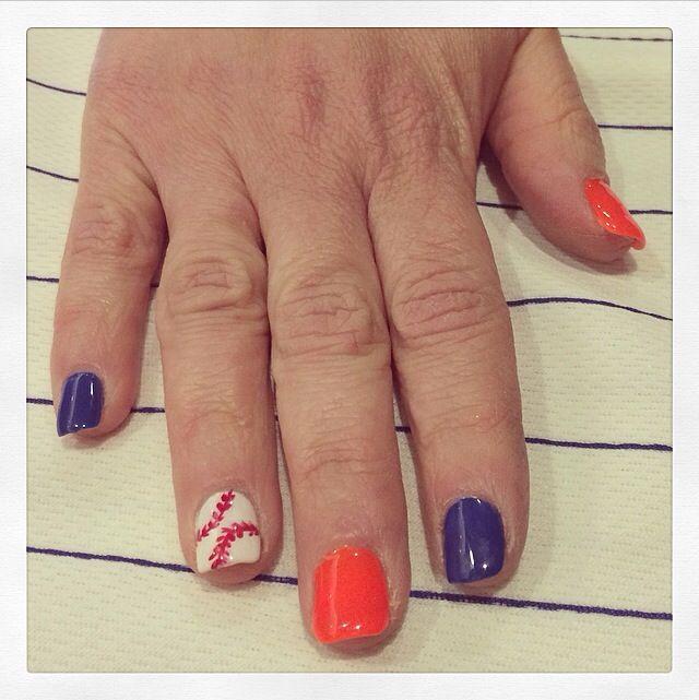Houston Astros Nails Hot Summer Nails Pinterest Makeup