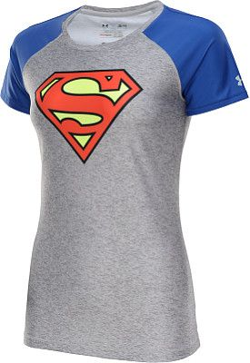 d0f4cd61e36 UNDER ARMOUR Women s Alter Ego Supergirl HeatGear Sonic Short-Sleeve T-Shirt