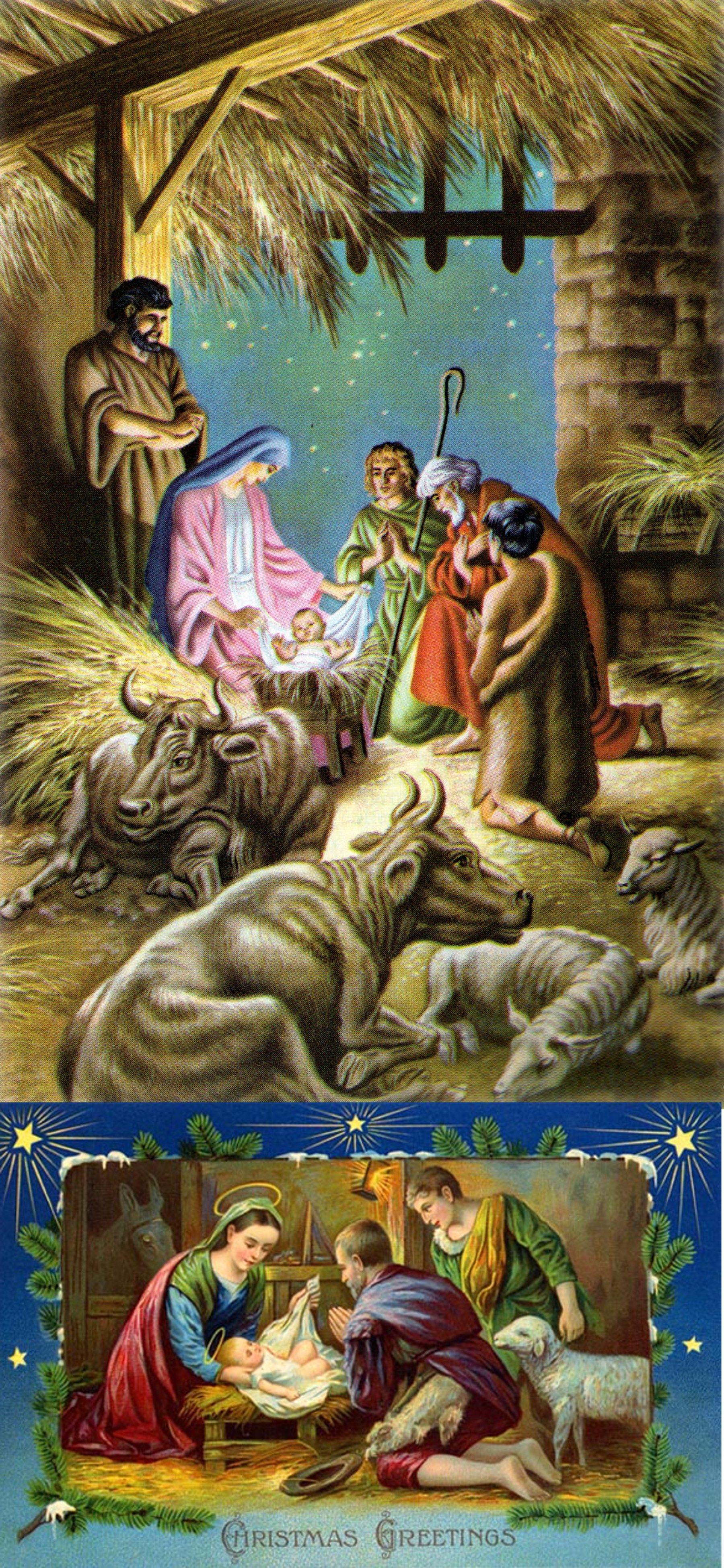 Vintage Nativity Christmas Cards Holiday's Christmas