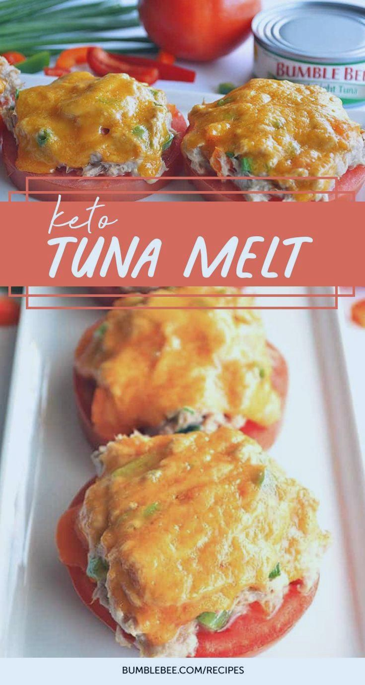 Keto Tuna Melt #ketolunch #ketogenic #lunch #recipes #tuna