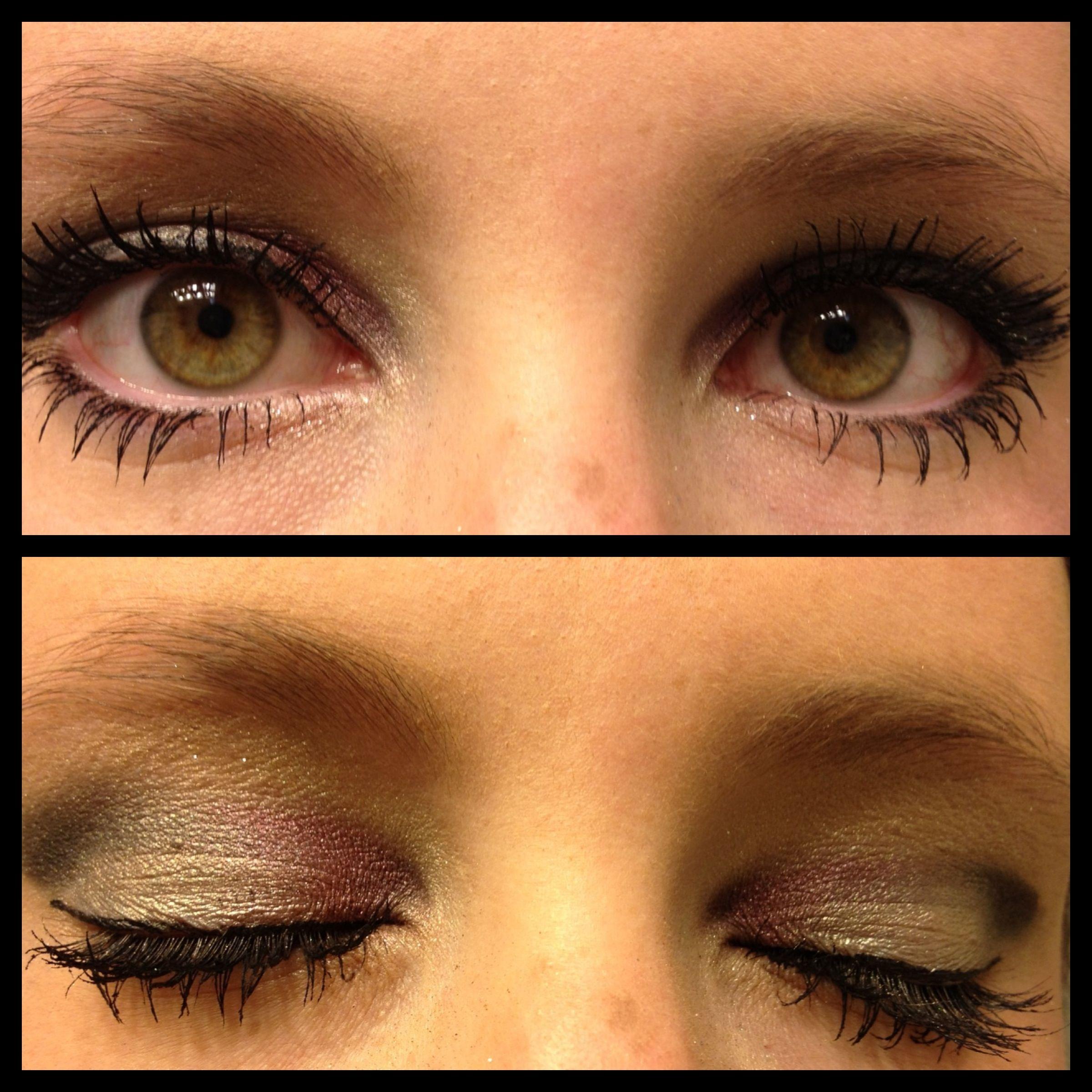 great eye shadow for green eyes or hazel eyes! urban decay and