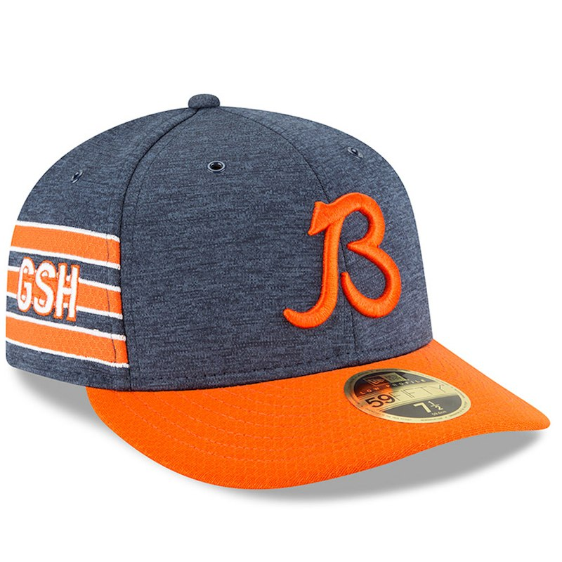 best service f5fe4 71fbd Chicago Bears New Era 2018 NFL Sideline Home Official Low Profile 59FIFTY  Fitted Hat – Navy Orange