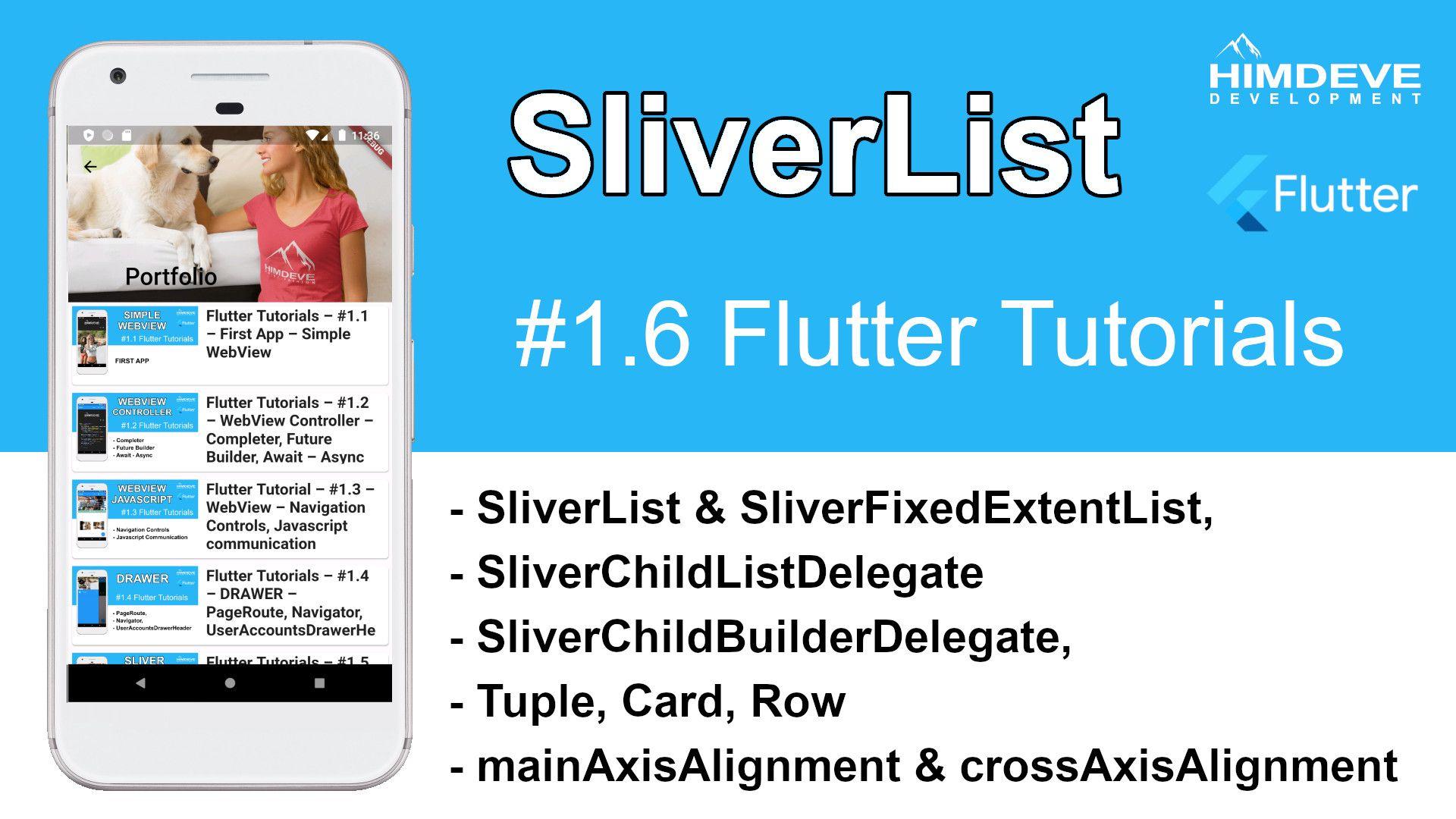 SliverList Himdeve development Google Flutter Tutorial